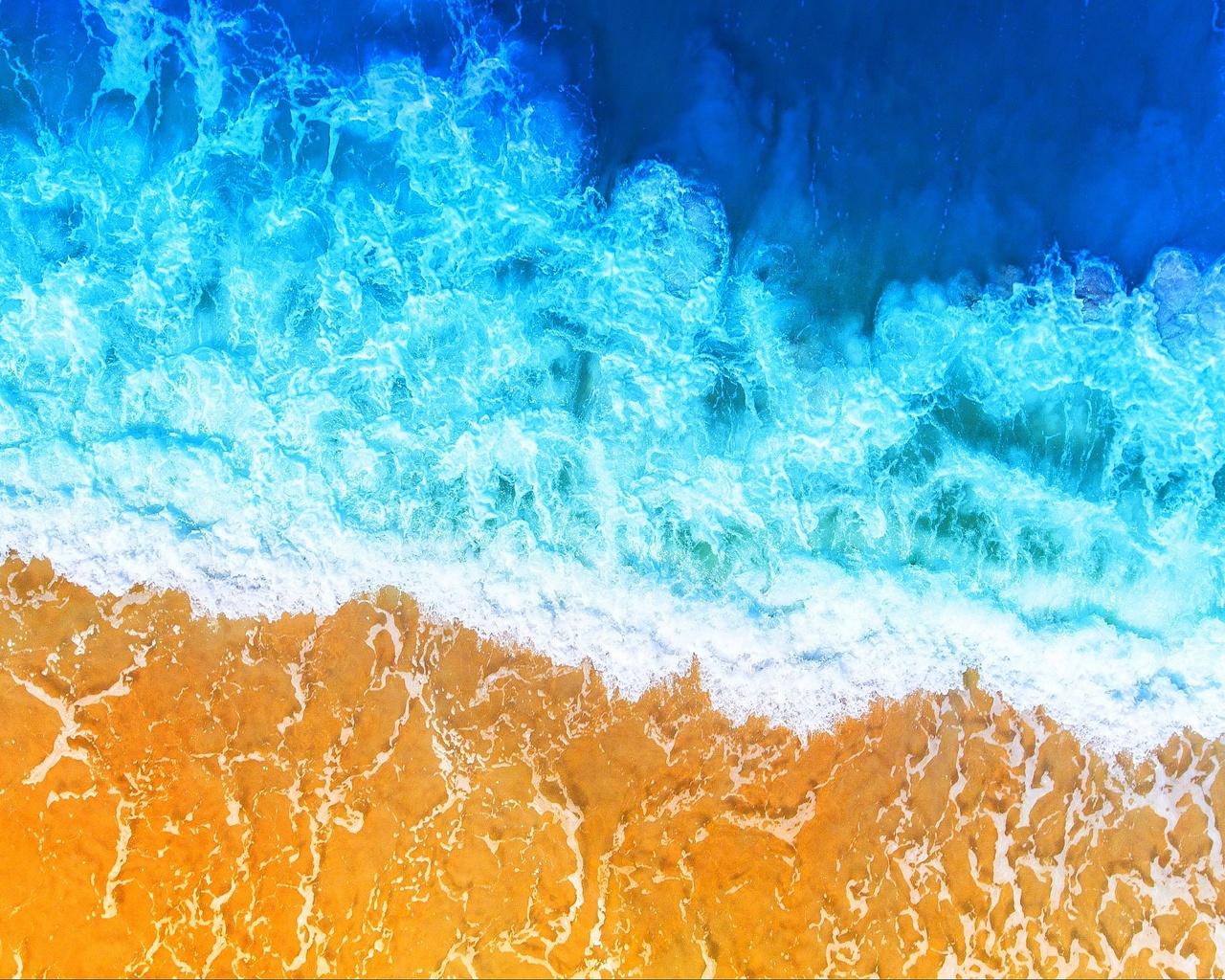 океан, пляж, прибой