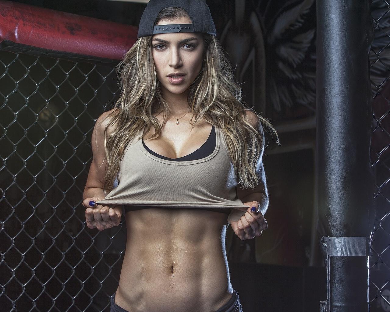 women, blonde, muscles, fitness, model, anllela sagra, фитоняшка,секси