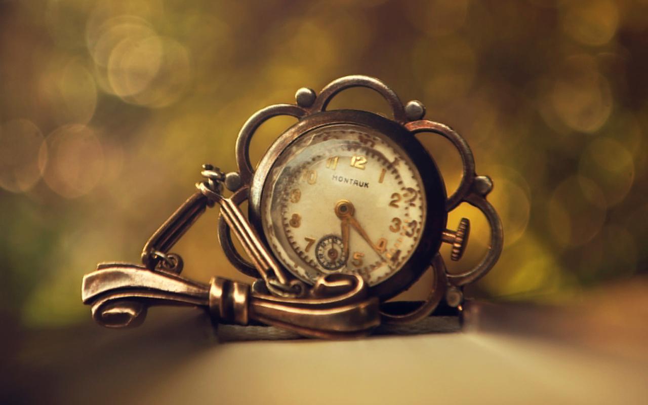 часы, макро фото, ретро
