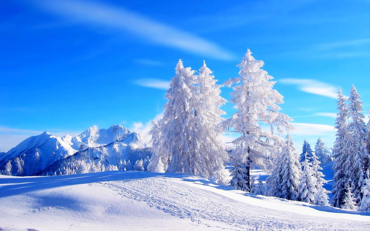 природа, пейзаж, зима, дорога, лес, небо, снег, деревья, ели, пейзаж, горы