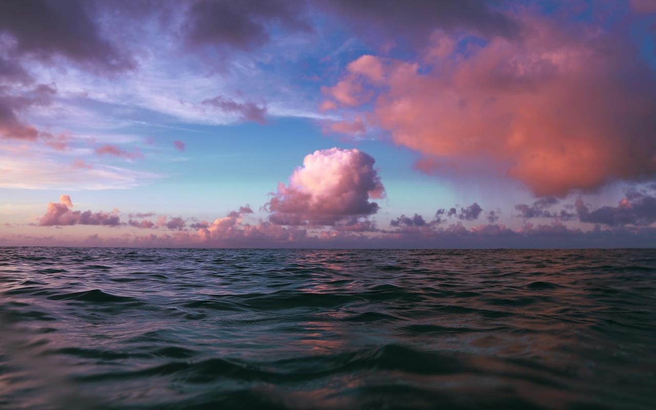 море, облака, красиво