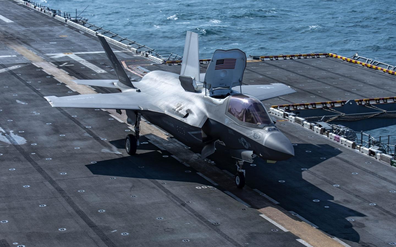 истребитель, палуба, lightning ii, f-35b