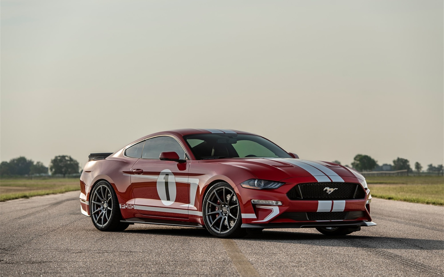 red, ford, ford mustang, hennessey