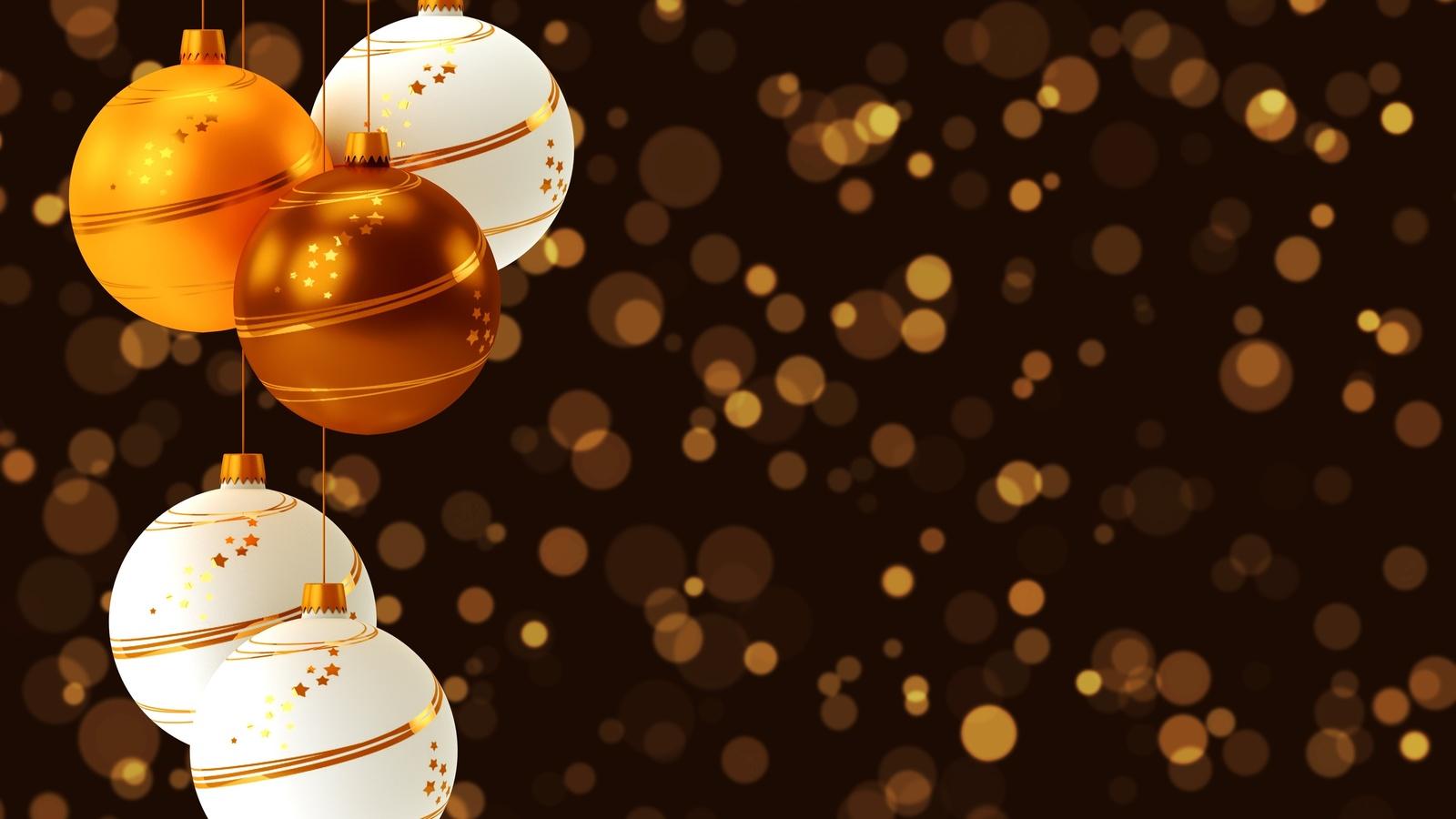 шары, украшения, елочные, огни, новый год