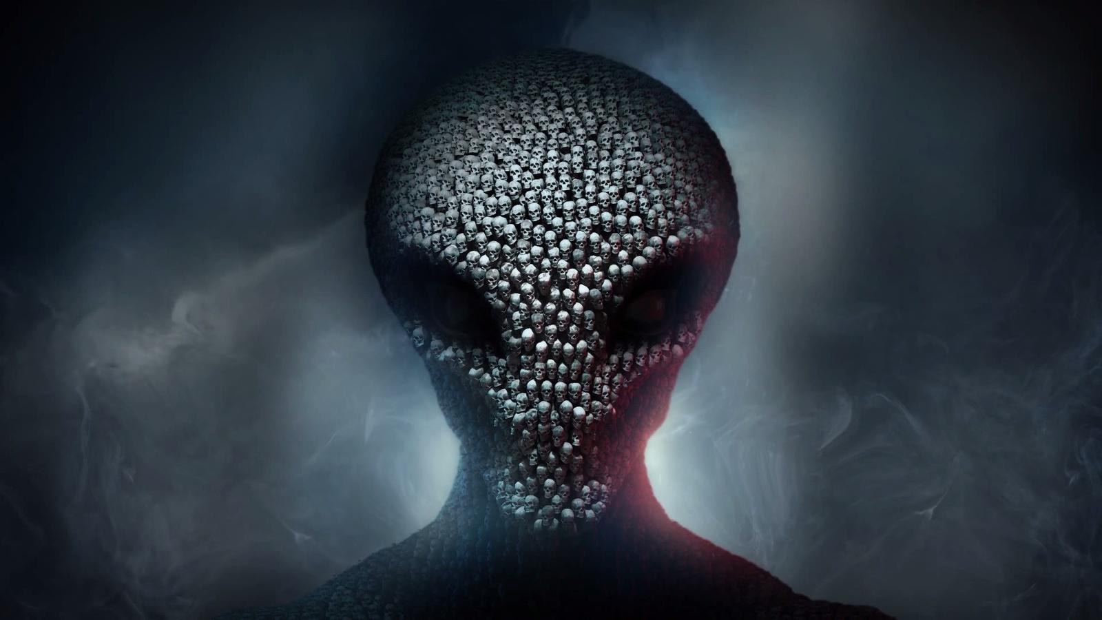 xcom, инопланетянин, фэнтези, арт, темный фон, креатив, персонаж