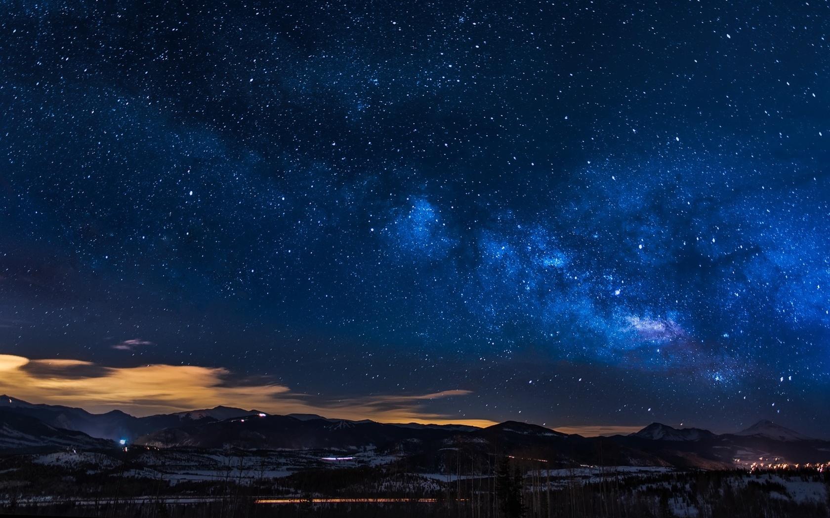 небо, звезды, горы, колорадо