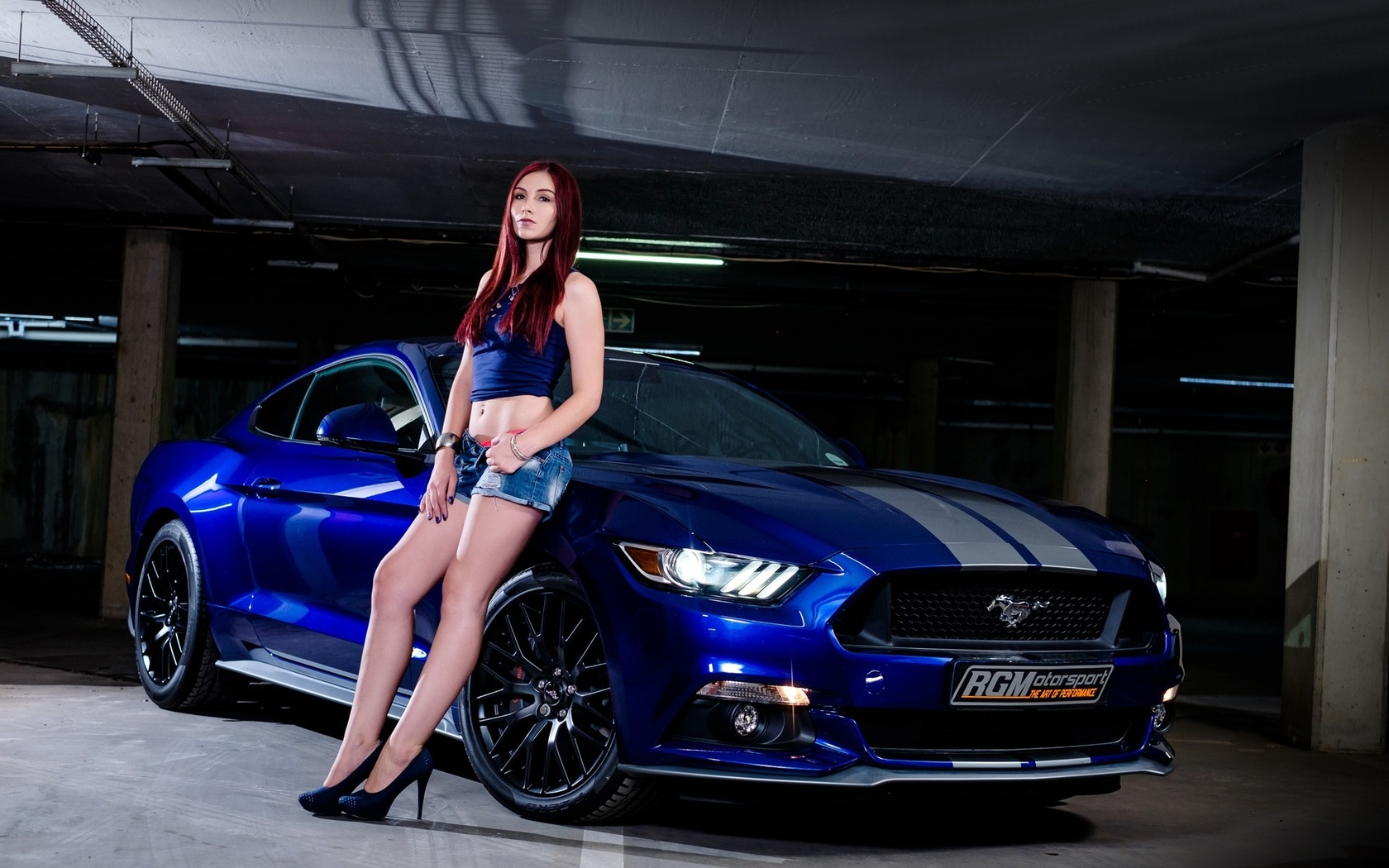 ford, girls, parking, beautiful girl, blue auto, section