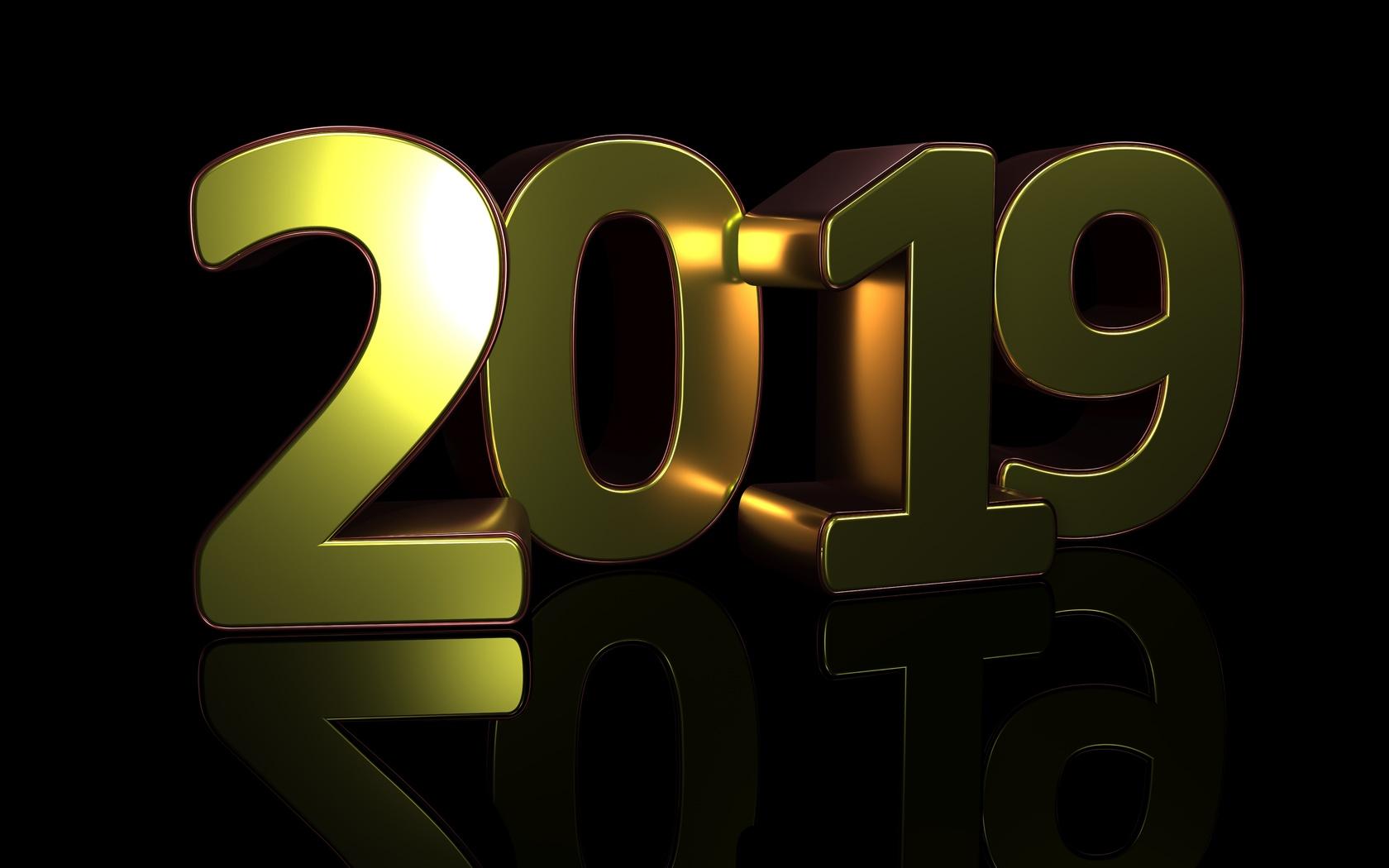 2019, цифры, фон