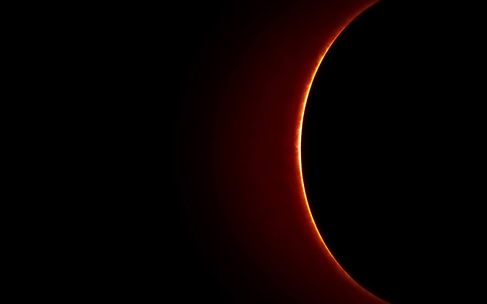 затмение, планеты, черное пространство, космос