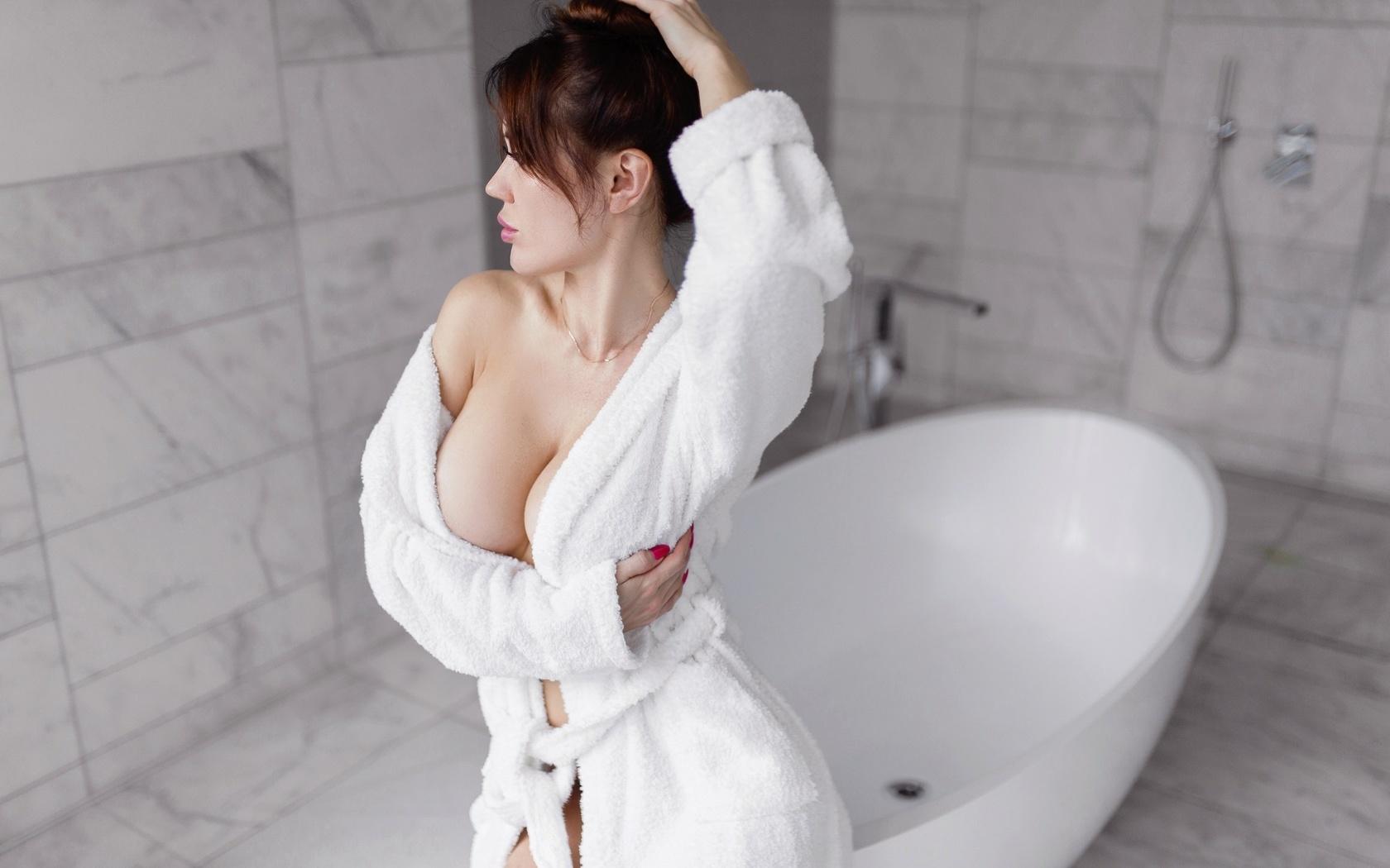 anzhelika ivanova, халат, ванная