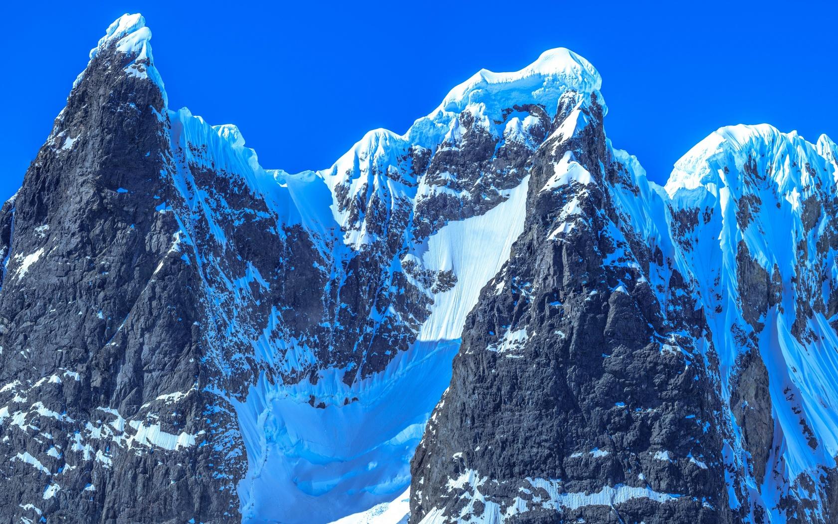 гора, вершина, заснеженный, антарктида