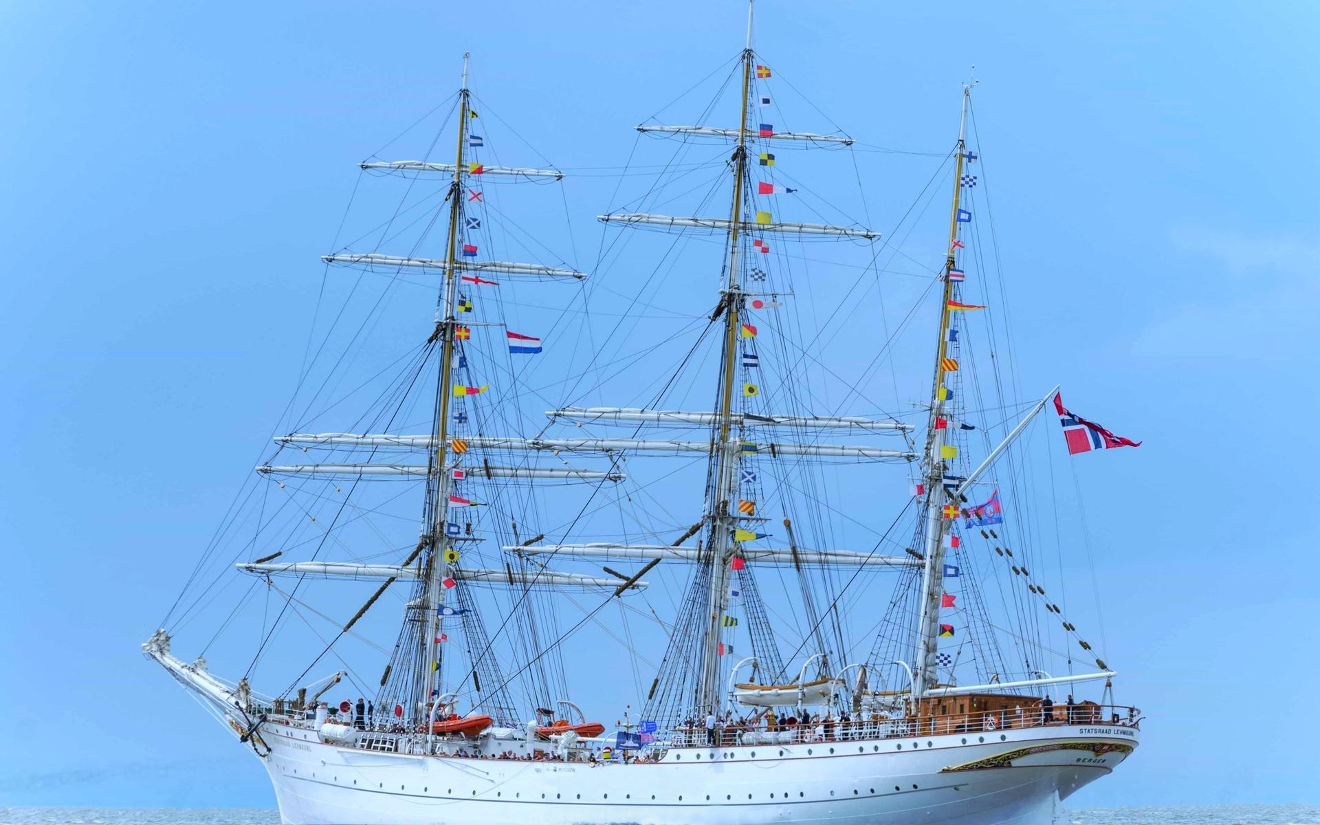 парусный, корабль, океан