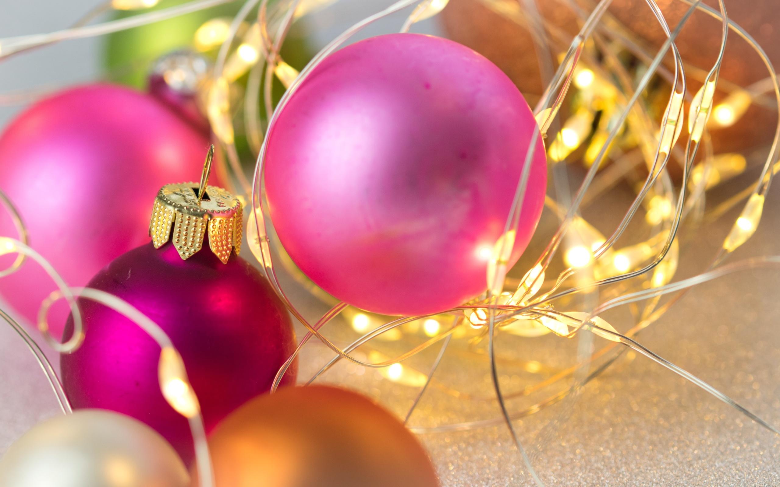 шары, украшения, новый год, праздник