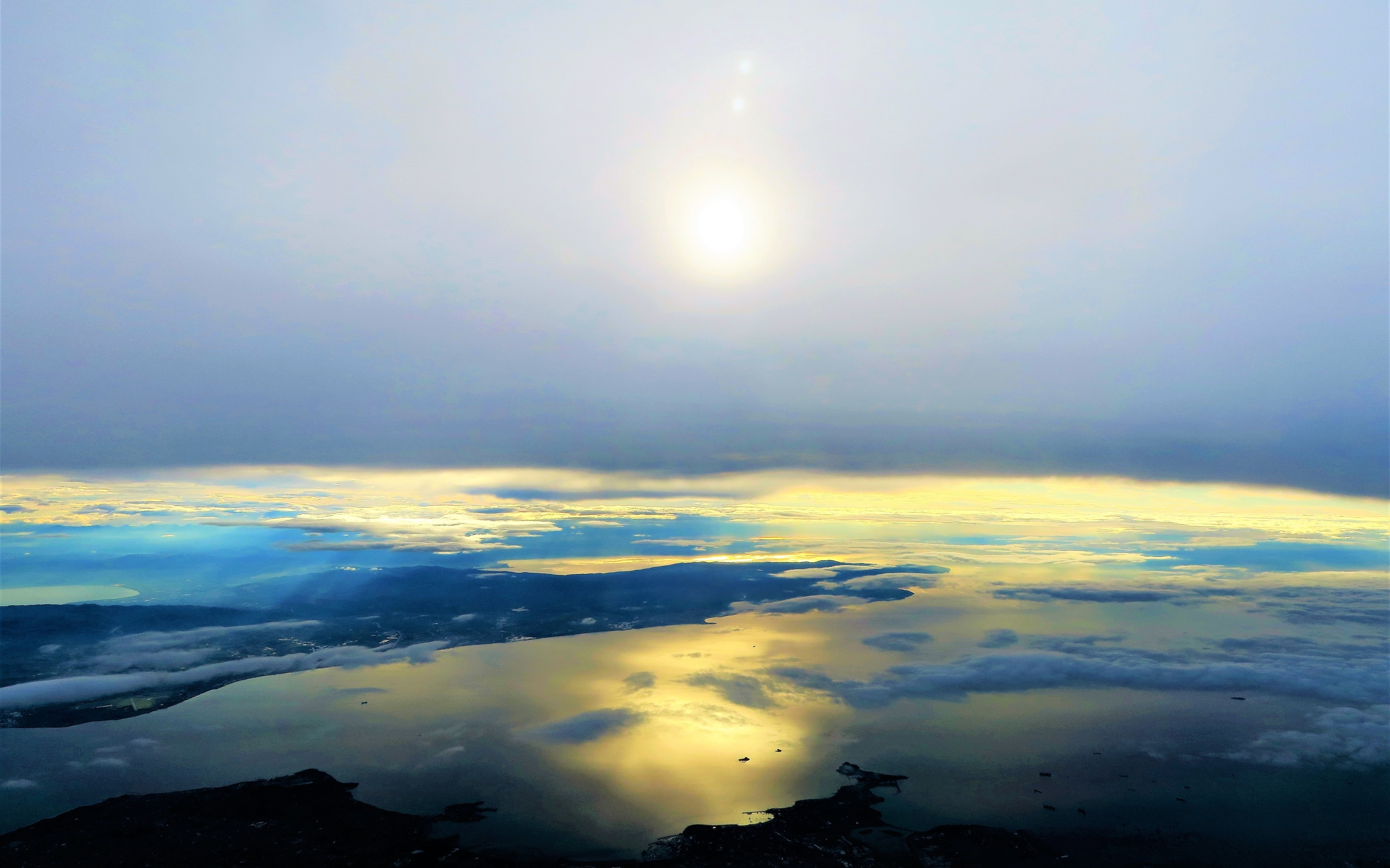 небо, море, закат