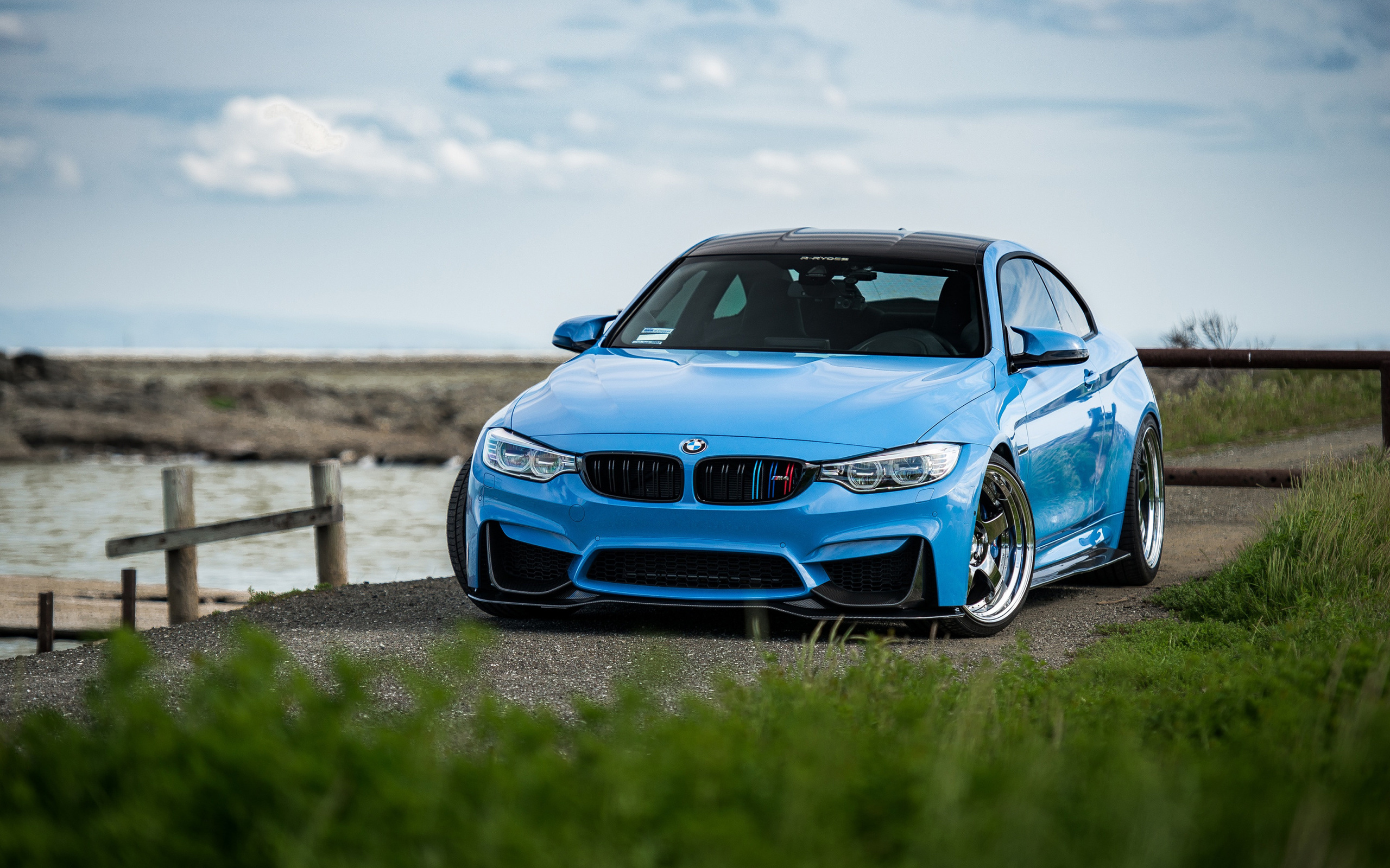 bmw, m4, m package, exterior, blue, sports coupe, tuning