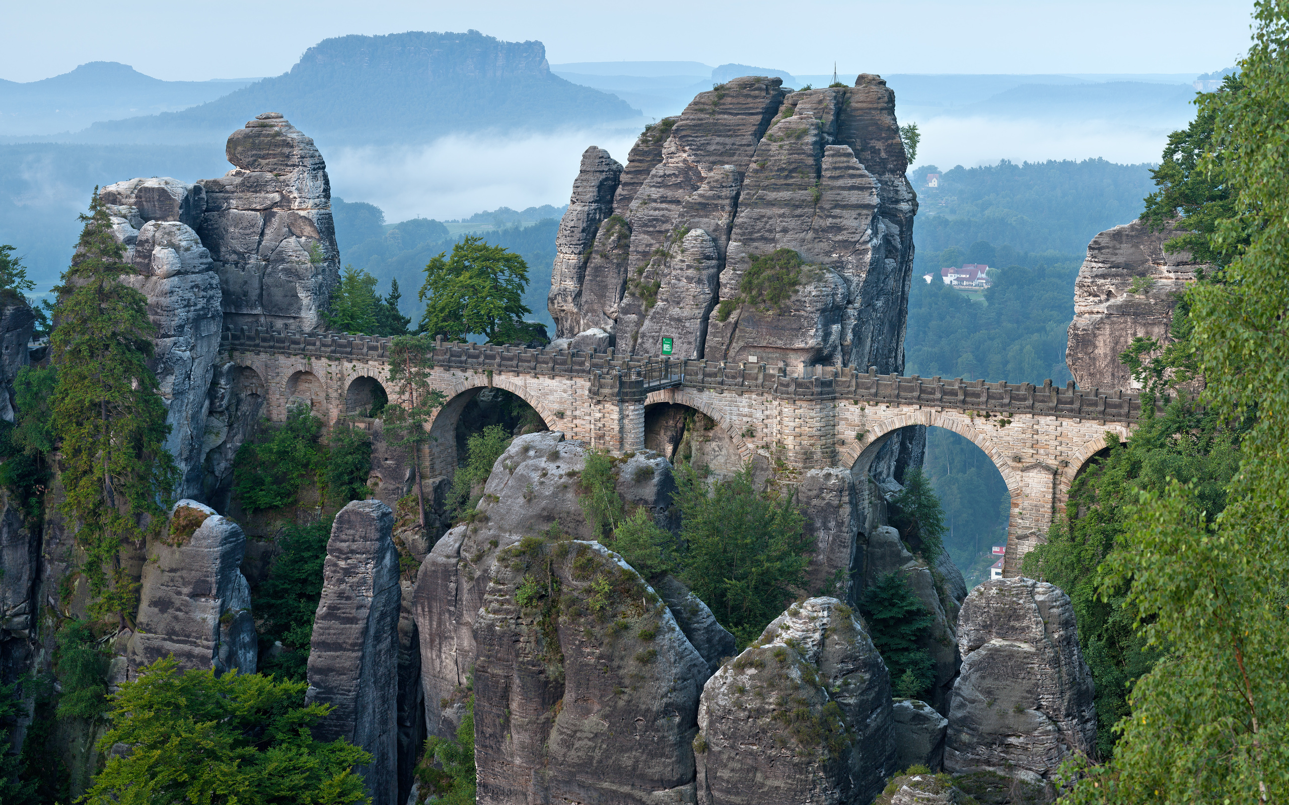 германия, мост, basta bridge, gorge marterella, saxon switzerland, скала, природа, утес