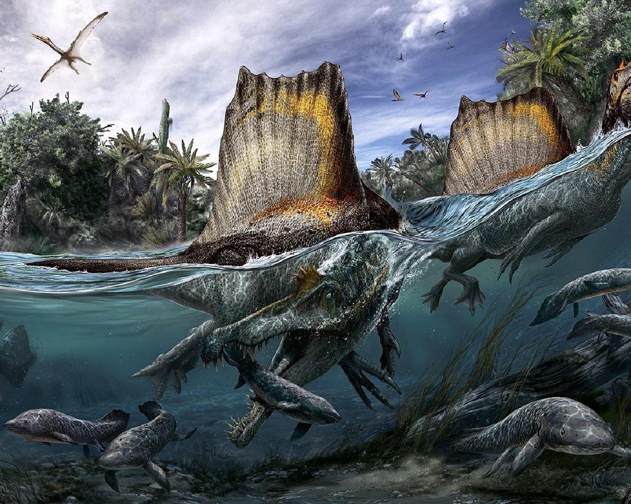 животные, древние, динозавры
