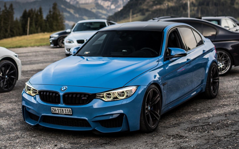 bmw, голубой