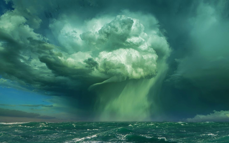океан, шторм, стихия