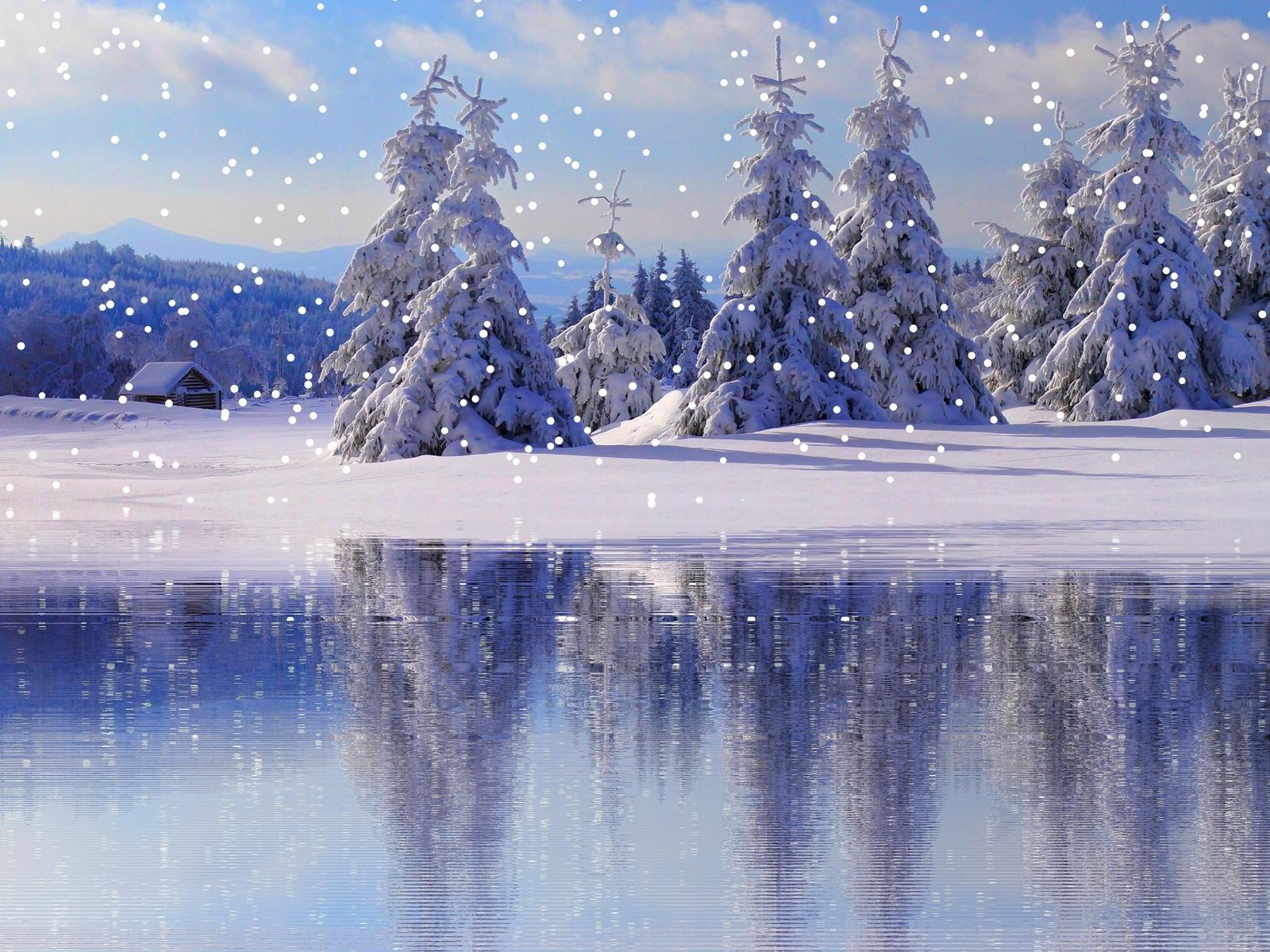 Картинки анимация идущего снега