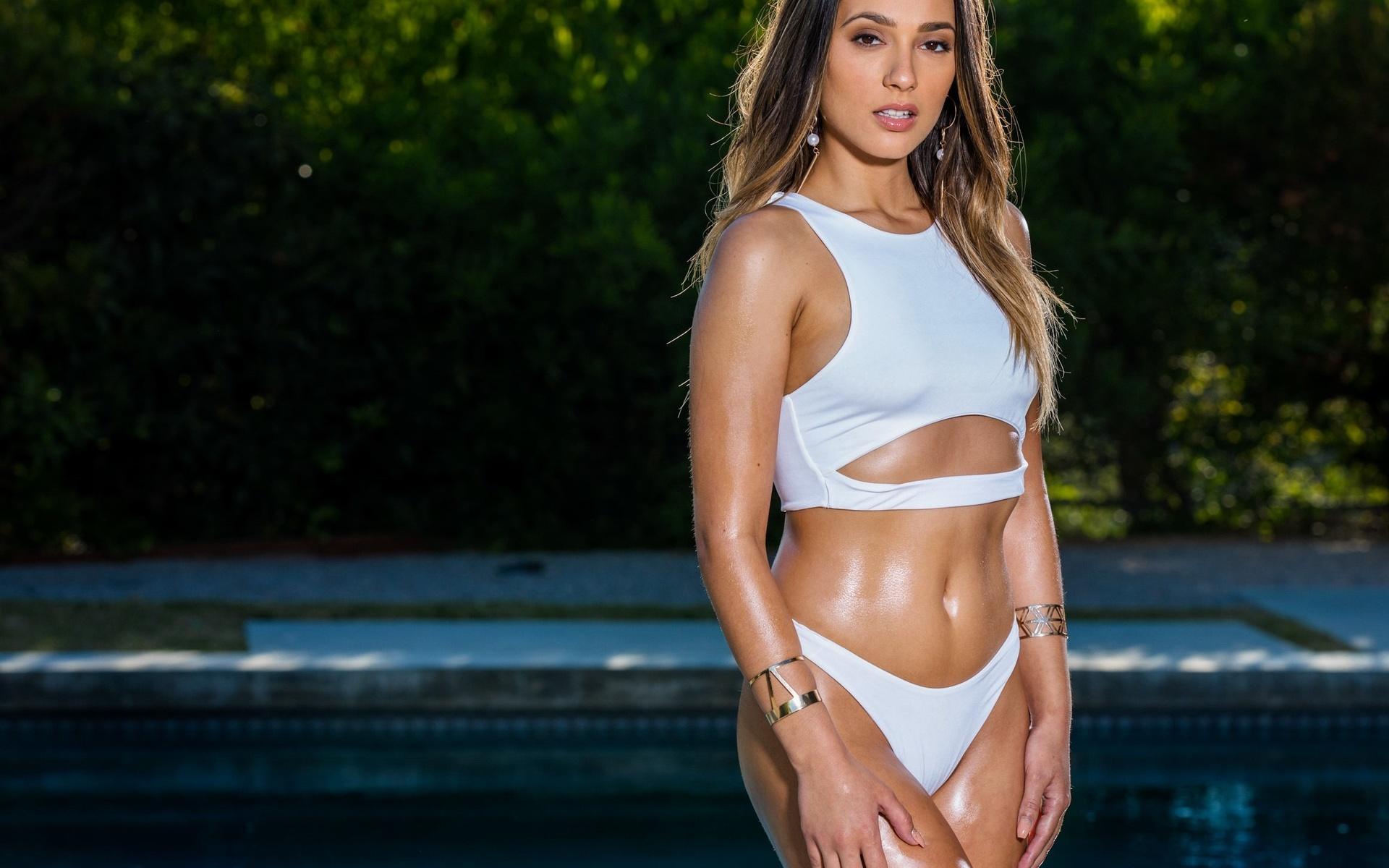 bikini, попа, babes, модель, ass, позирует, спина, фигура, купальник, грудь