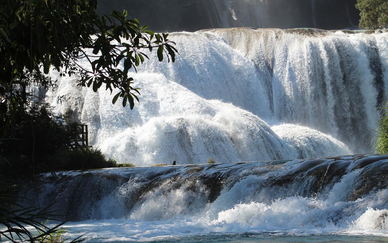 водопад, чьяпас, мексика