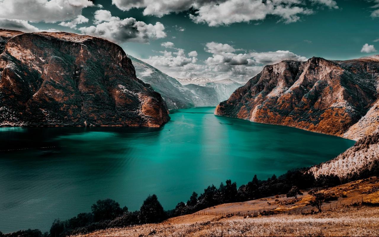 nature, landscape, winter, mountains