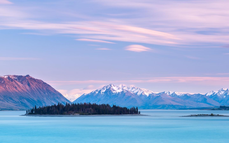озеро, текапо, новая зеландия, lake tekapo, new zealand, mountains, sky clouds