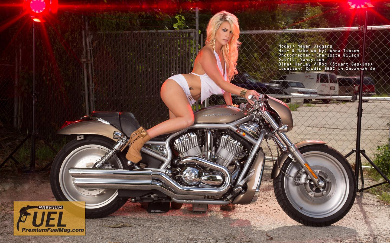harley davidson, мотоцикл, ночь, девушка, блондинка