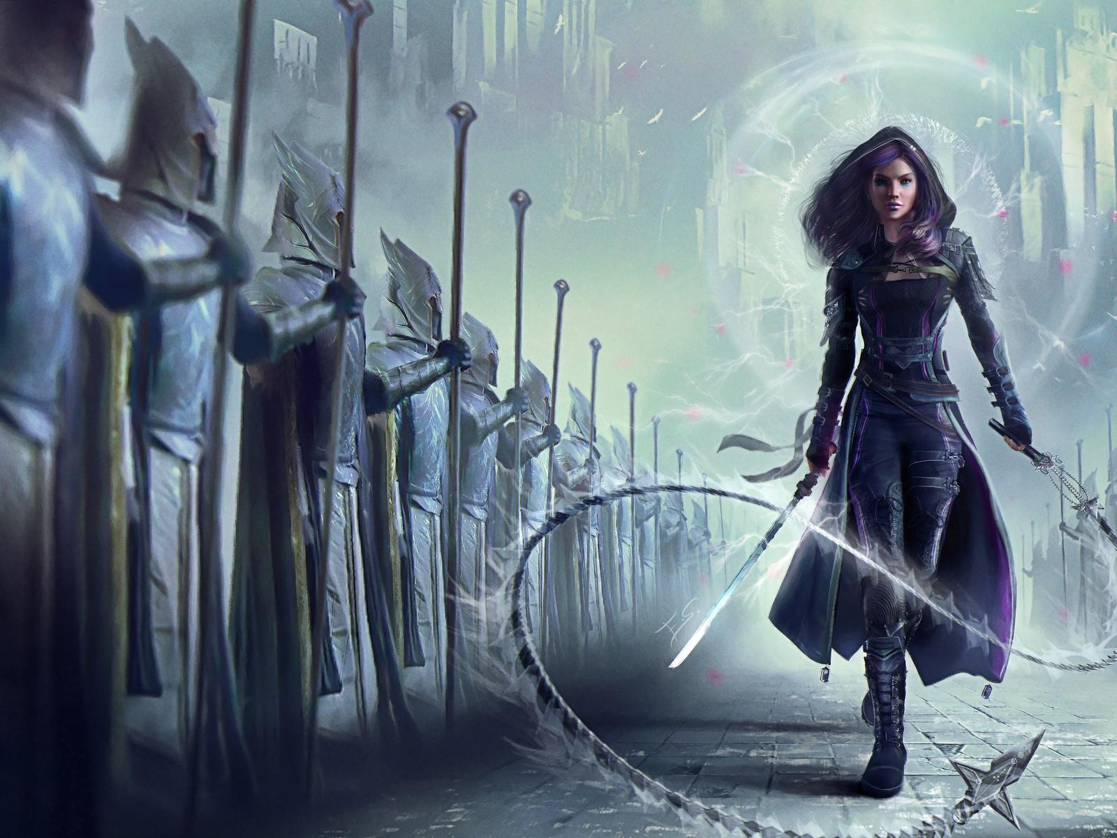 воин, доспехи, меч