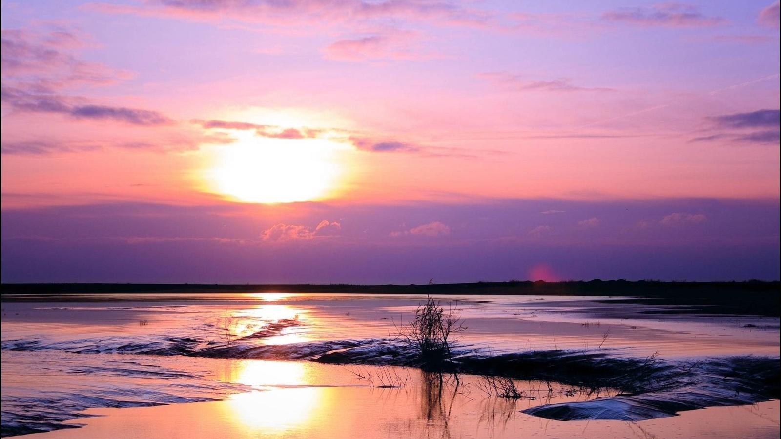 природа, небо, закат
