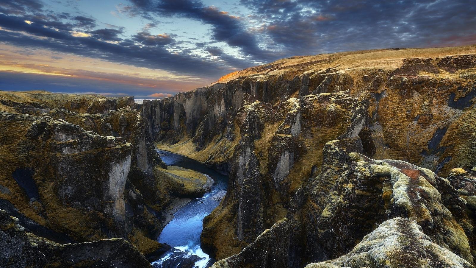 обои небо, горы, исландия