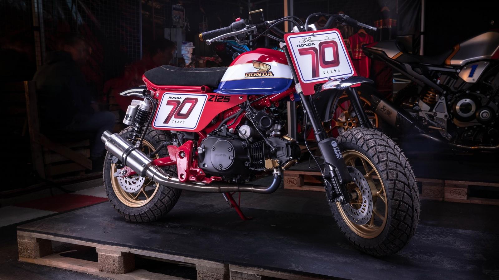 мотоцикл, honda, z125