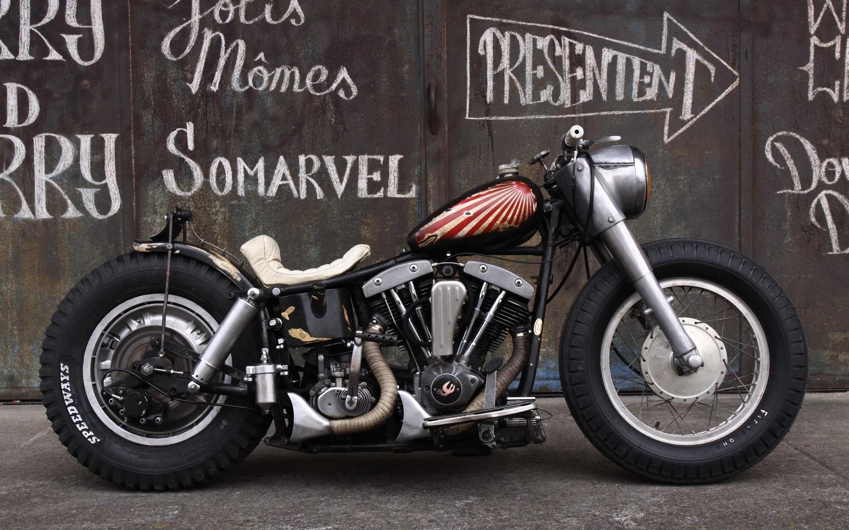 мотоцикл, triumph, bonneville, bobber