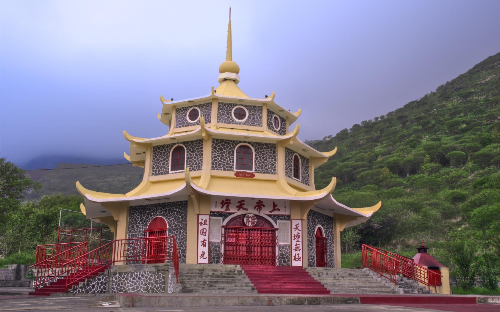 горы, пагода, буддизм