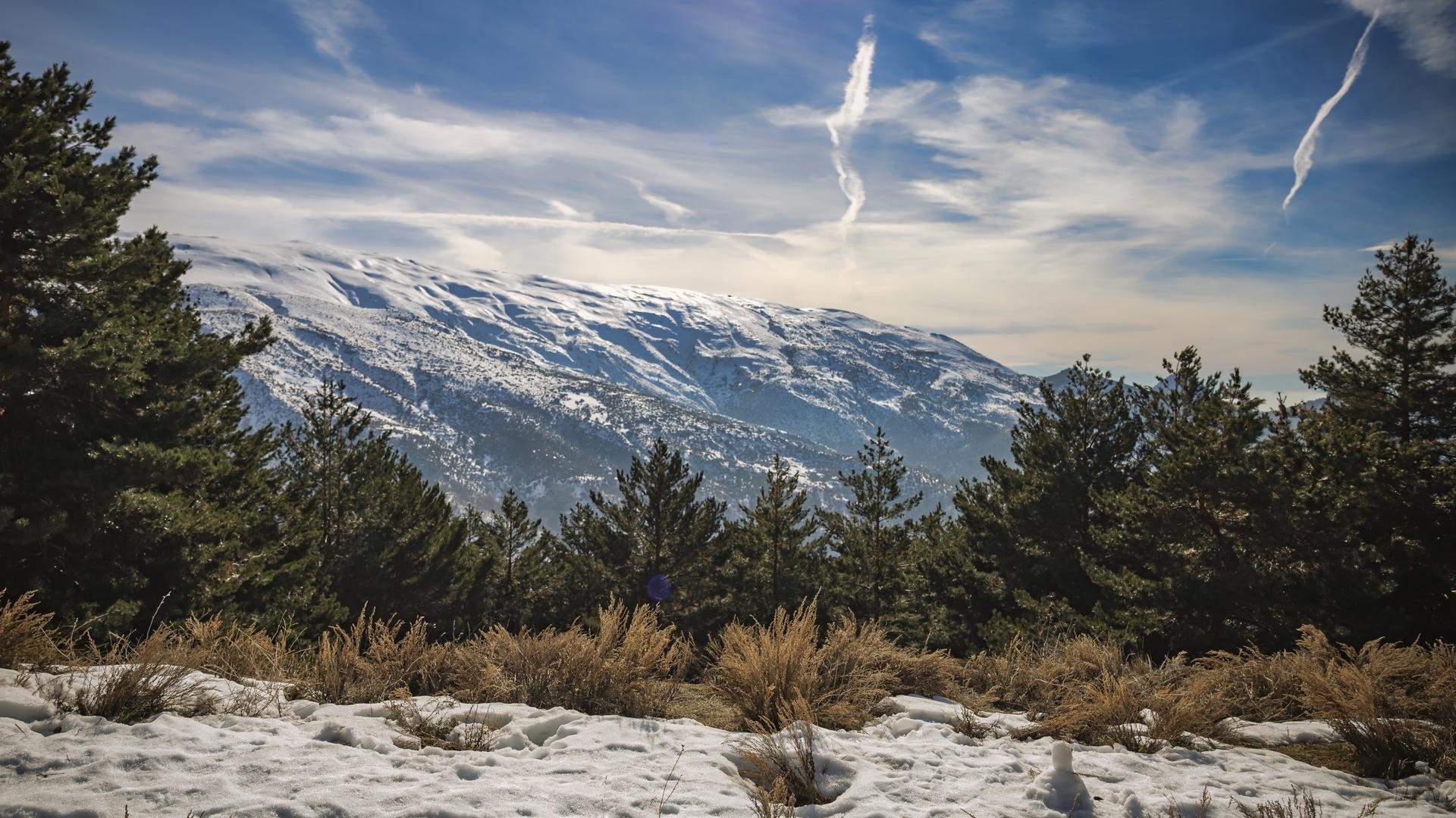 сьерра-невада, андалузия, испания, пейзаж