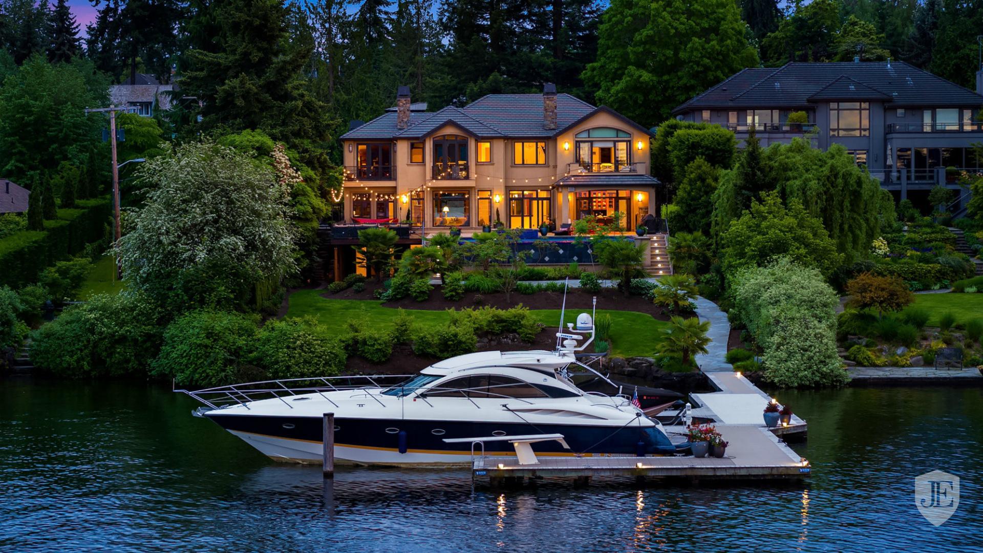 дом, Яхта, природа