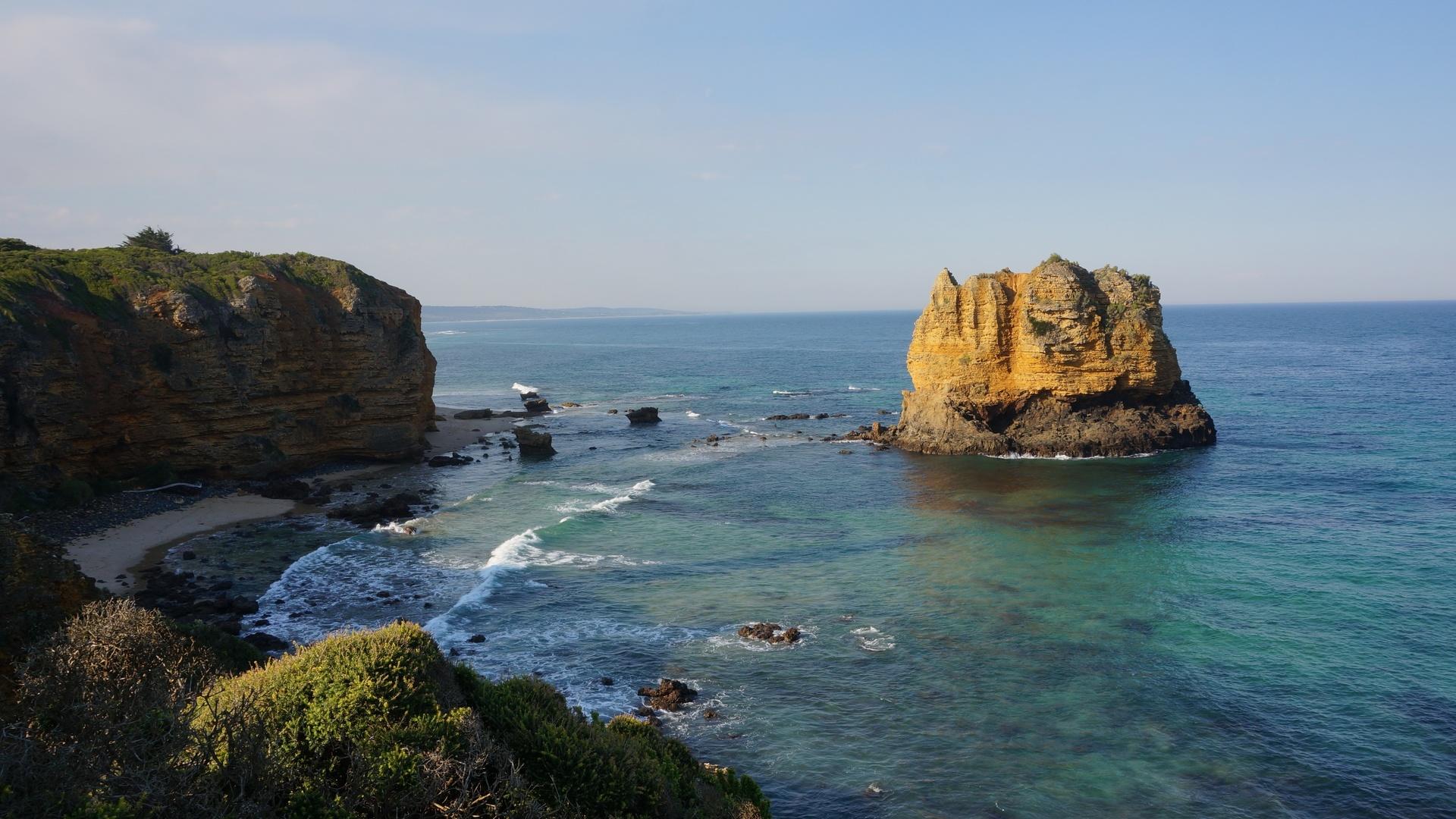 море, скалы, новая зеландия