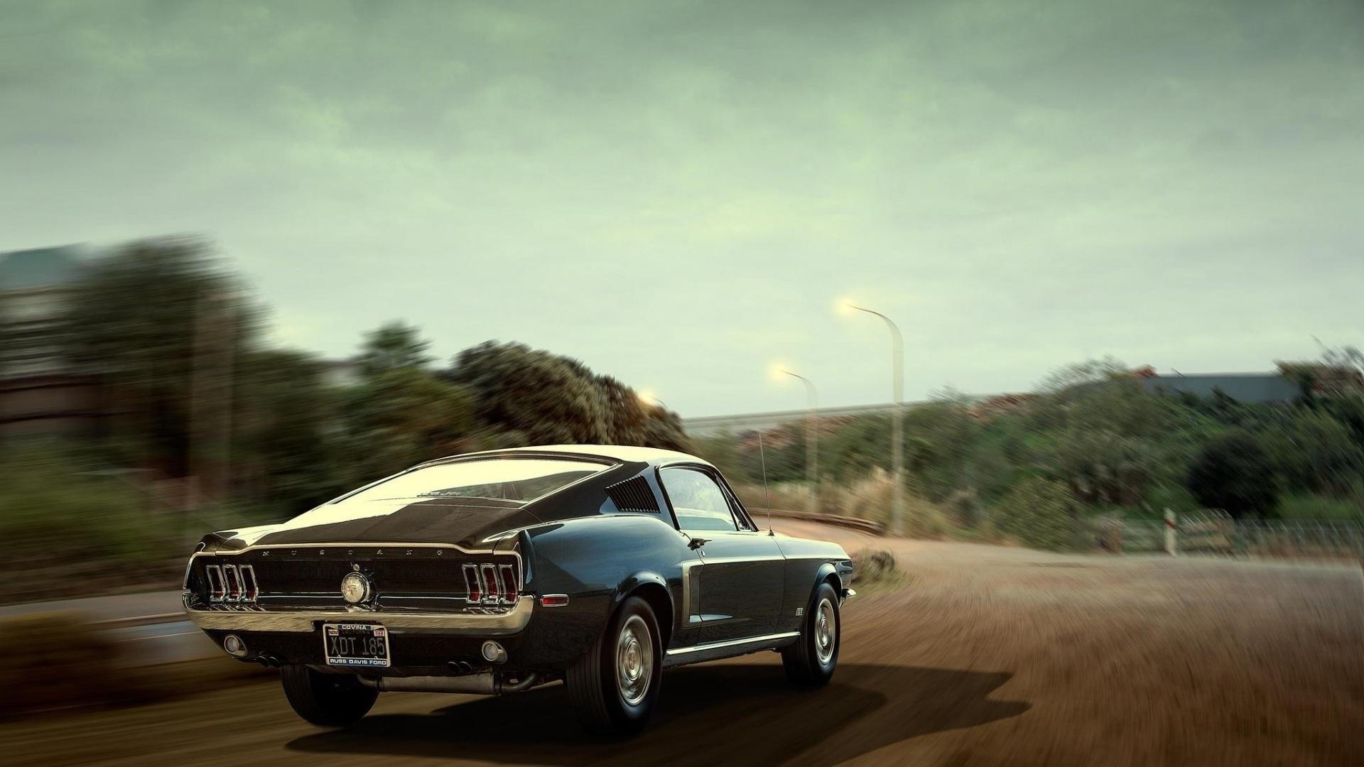 форд, мустанг, дорога, скорость