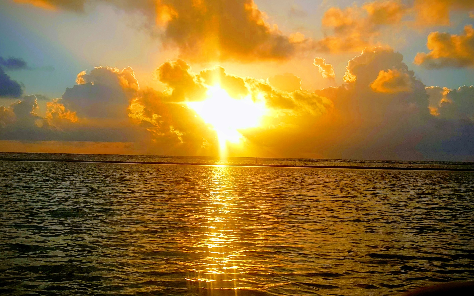 море, небо, рассвет