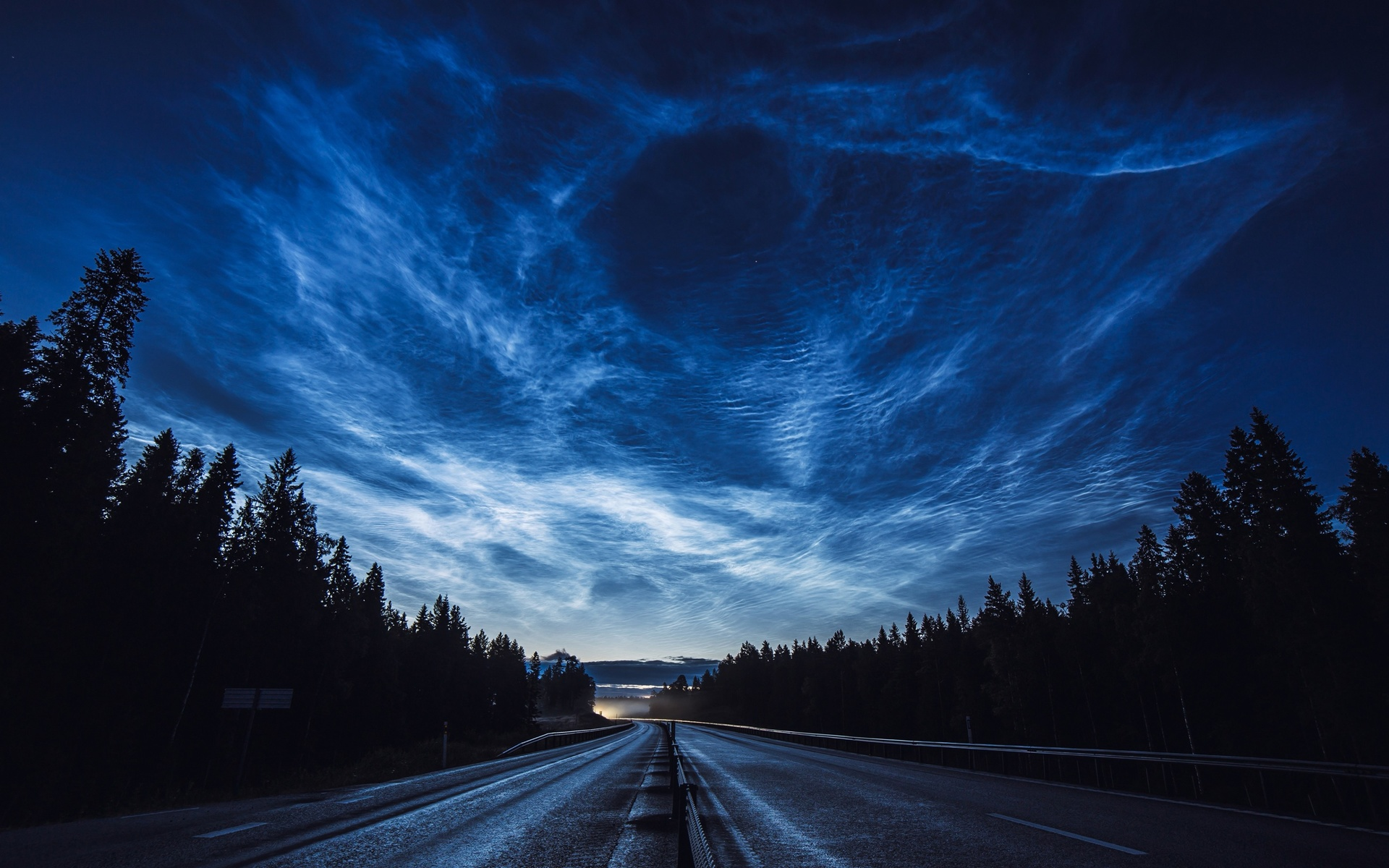 дорога, ночь, лес, небо, road, night, forest, sky