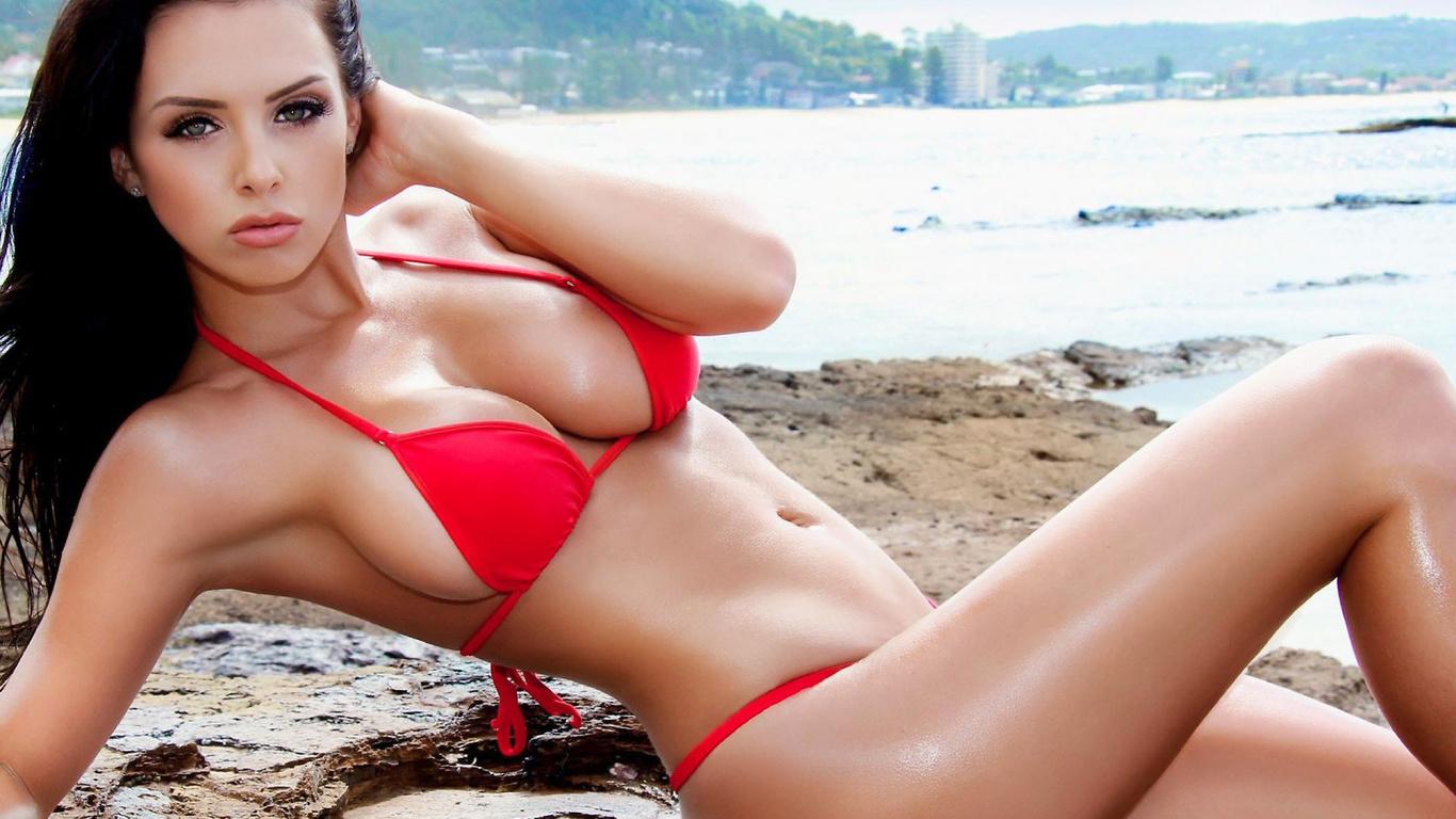 alexandra lillian, девушка, bikini