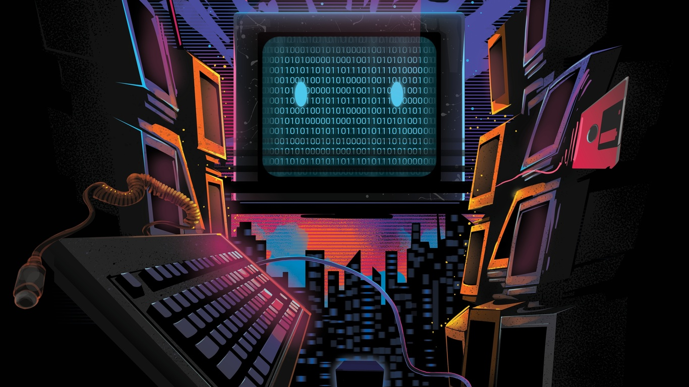 компьютер, цифровая клавиатура, художественная фотография