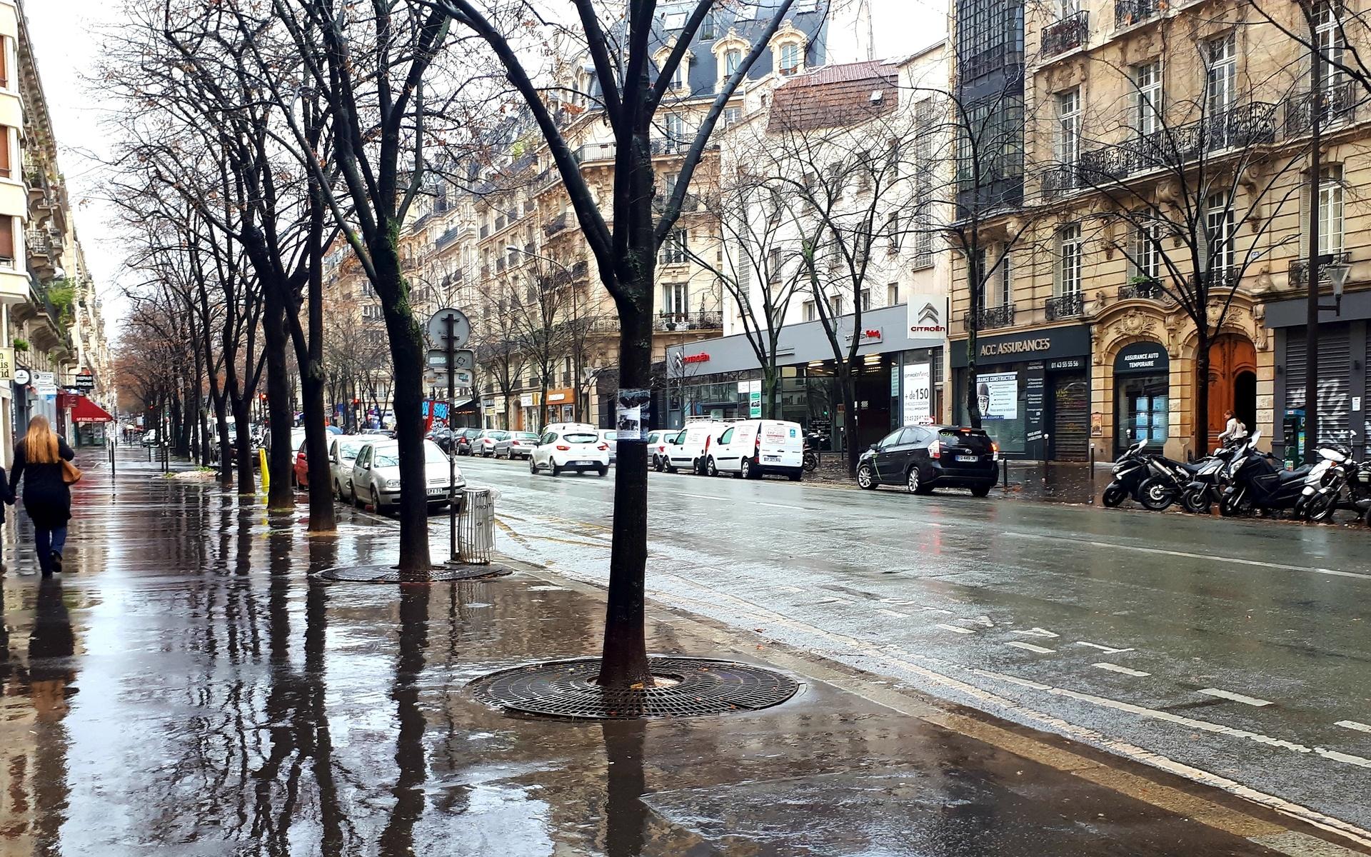 париж, франция, улица, дома
