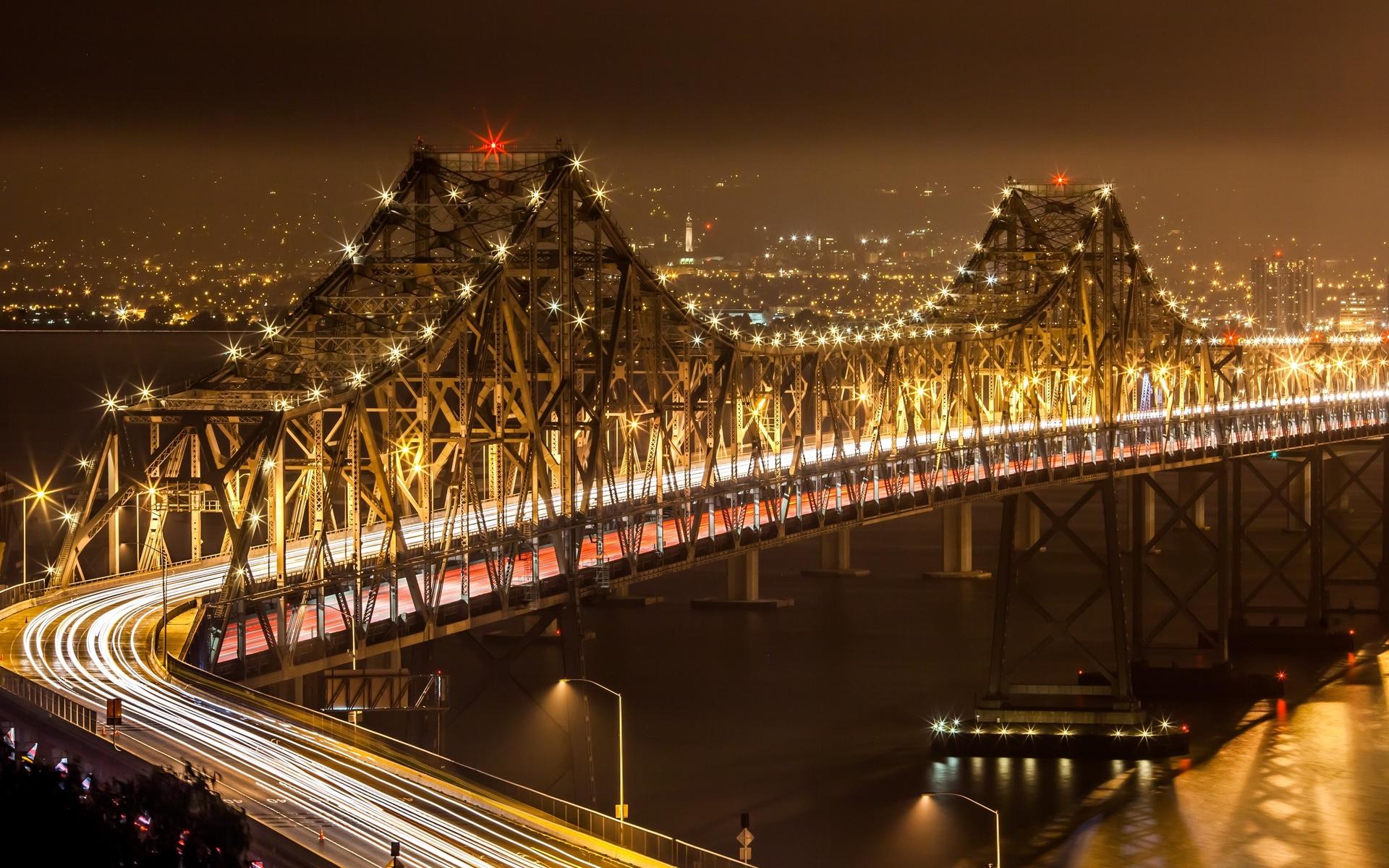 Картинки ночных мостов