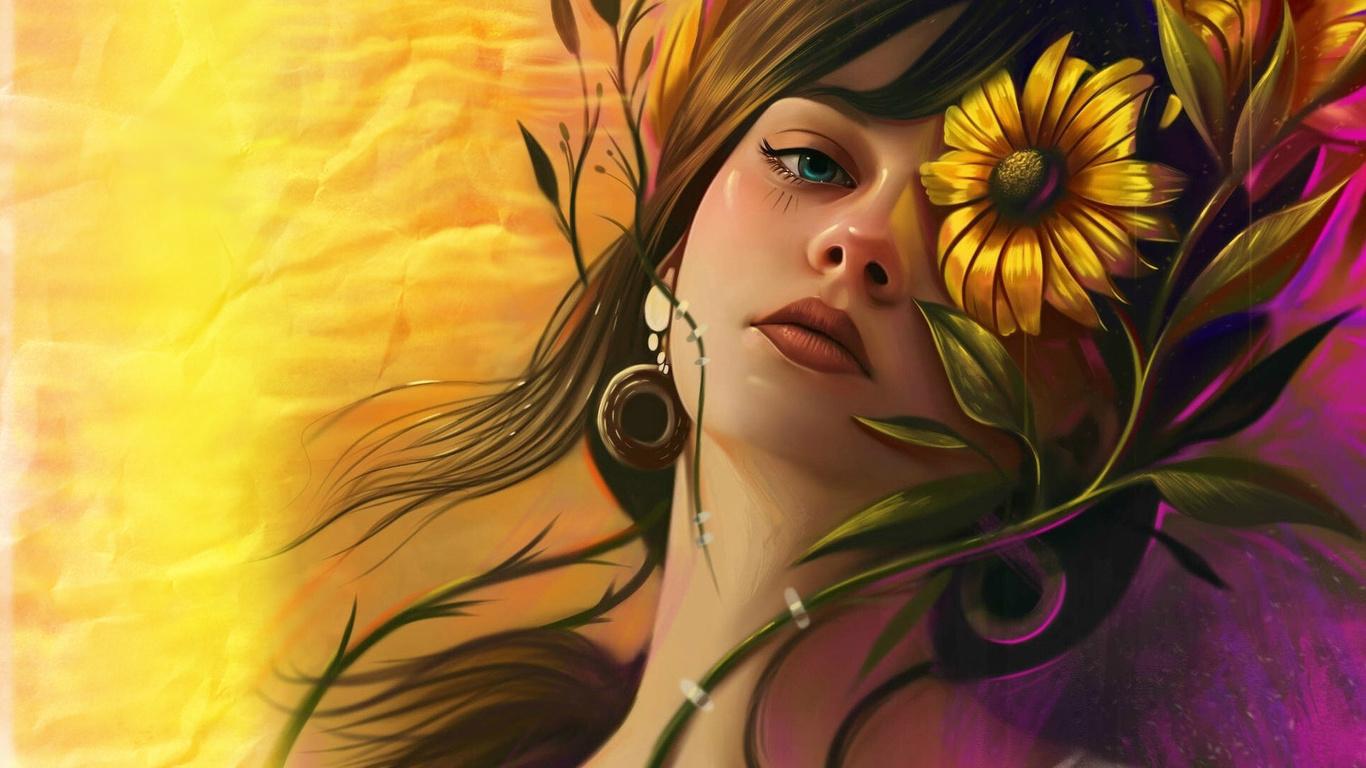 цветы, рисунки, vurdem