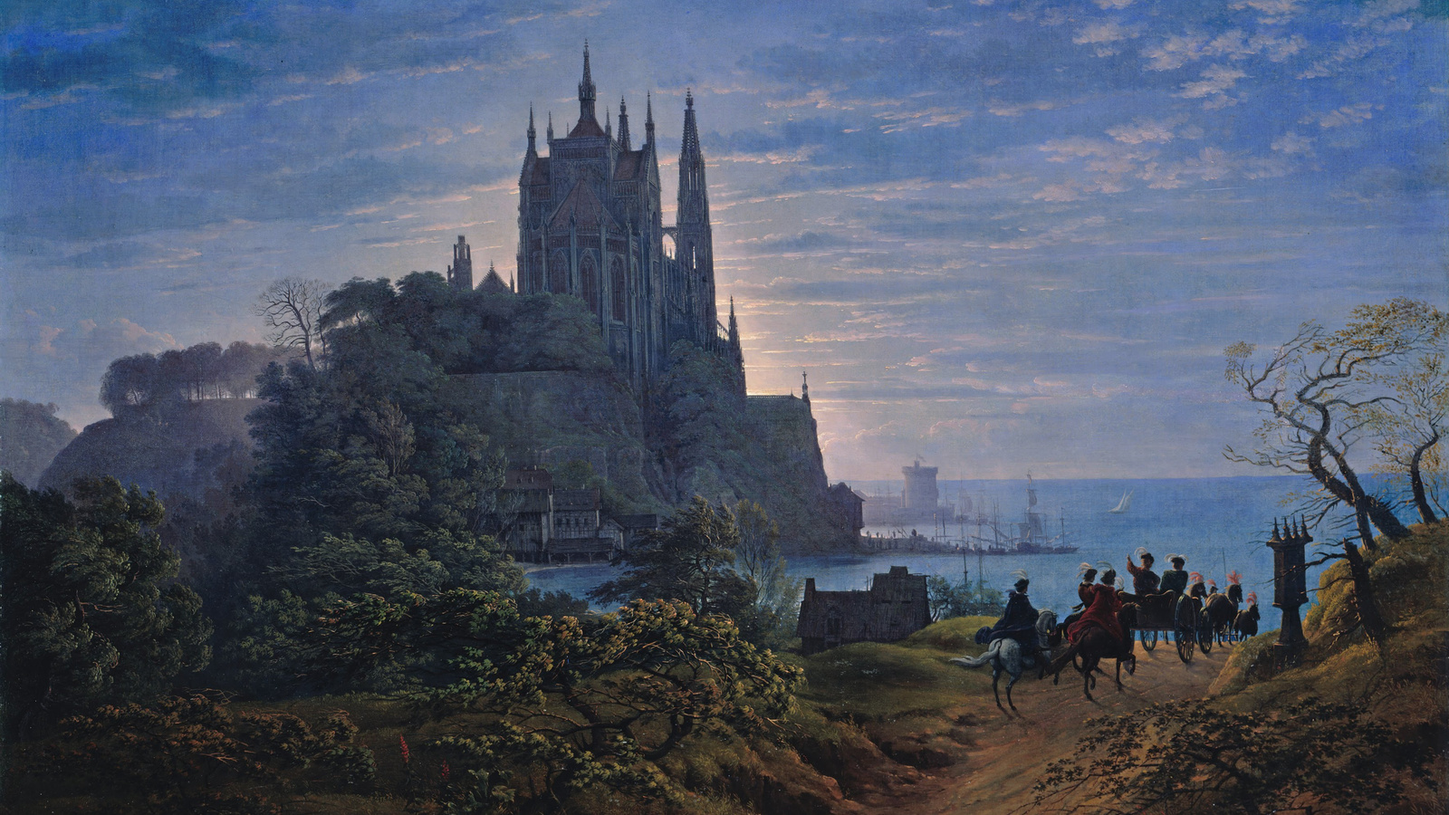 готическая, архитектура, замок