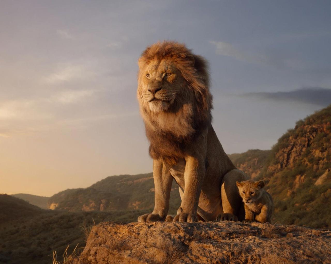 король лев, муфаса, маленький, симба, лев, львенок