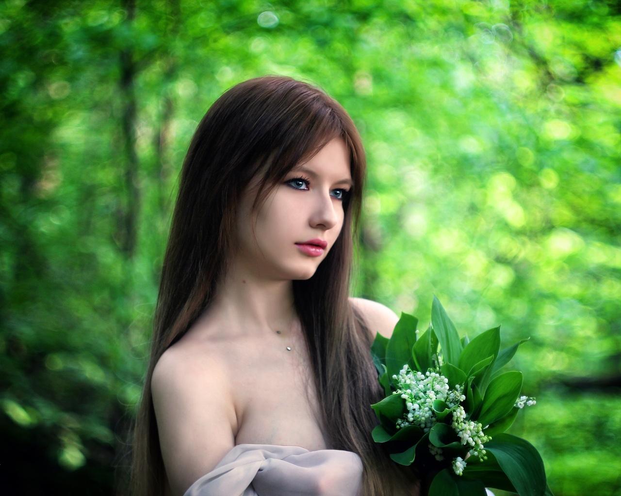 девушка, цветы, фотограф, сергей ящиков, модель, алина, длинные волосы