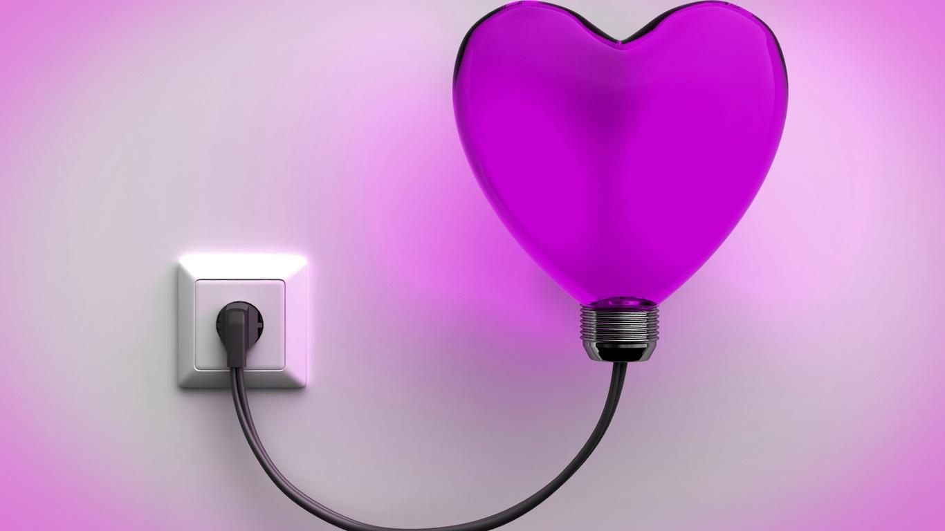 светильник, сердце, свет